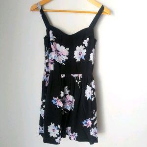 Joie black floral mini dress Size S